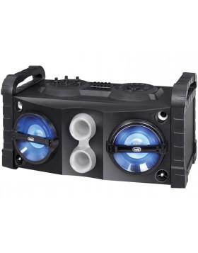 Altoparlante amplificato Trevi con microfono Mobile in legno potenza 50W Karaoke