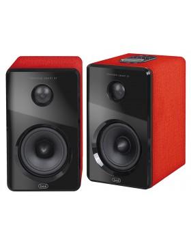 2 Altoparlanti Amplificati Bluetooth Ingresso Usb SD Aux-In Rosso 100-240V Trevi