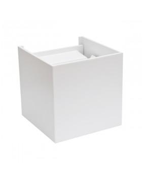 Lampada da Parete Led 6W Cubo Luce Calda in Metallo Bianco