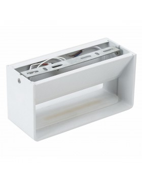 Applique a Led da Parete Rettangolare 6W Bianco Luce Calda