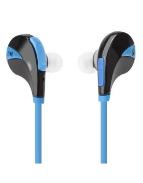 Auricolari Bluetooth Cuffie Sport per Smartphone Blu Vultech HD-06BTB