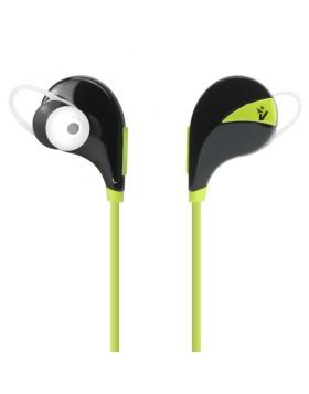 Auricolari Bluetooth Cuffie Sport per Smartphone Verde Vultech HD-06BTG