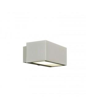 Applique da Parete per Esterni Giardini Resistente IP 54 Bianca Alluminio E27