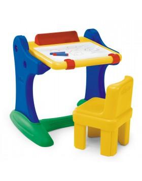 Banco Scuola con Lavagna Sedia Sgabello per Bambini Bambino CHICCO 30401