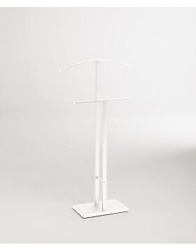 Servomuto Servo Muto acciaio Verniciato Bianco Appendiabiti Porta Abiti Design