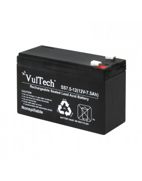 Batteria Al piombo 12v Ermetica 7 Ah Vultech GS-7AH per Allarme Antifurto Ups