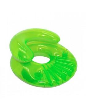 Poltrona gonfiabile Sedia di colore verde Vano per bicchiere Con schienale Svago