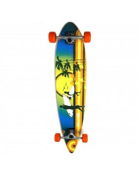 Longboard Flat 43 Beach Long Board Skate Completo di Ruote Colorato Move