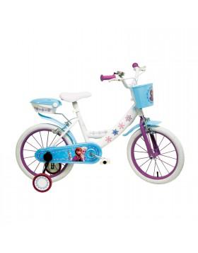 """Bicicletta Bici per Bambina 14"""" Con Rotelle FROZEN Mondo Disney"""