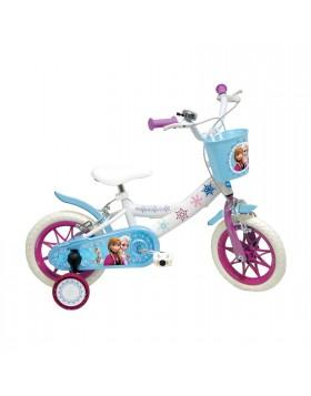 """Bicicletta Bici per Bambina 12"""" Con Rotelle FROZEN Mondo Disney 3-6 Anni"""