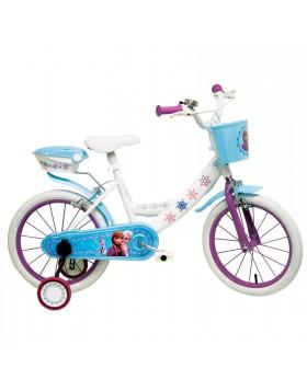 """Bicicletta Bici per Bambina 16"""" Con Rotelle FROZEN Mondo Disney 6-9 Anni"""