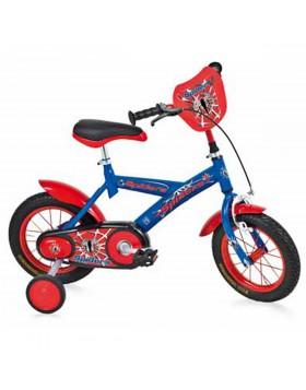 "Bicicletta Bambino BMX Bici Bimbo 12"" Spiders Blu Made in Italy"