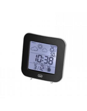 Piccola stazione meteo Clock Alarm Camera Nero Orario Suoneria Batterie Trevi