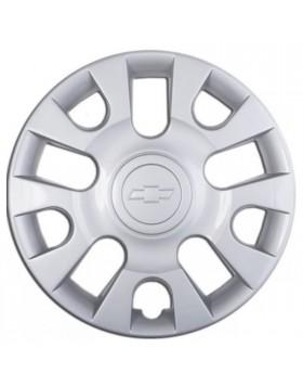 """Un copricerchi Copriruota singolo Coppa Copricerchio 13"""" x Chevrolet Matiz Logo"""