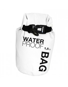 Borsa Sacco Sacca Impermeabile Waterproof Tenuta Stagna 1,5 LT Bianca Piccola