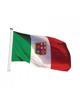Bandierina Italia Tricolore 80x120cm X imbarcazioni Marittima Pesca Navigazione