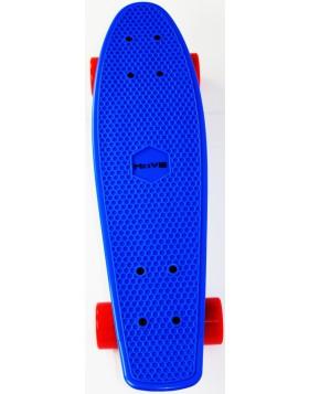 SKATEBOARD CANDY BOARD BLU MOVE LONGBOARD PROFESSIONAL COMPLETO DI RUOTE