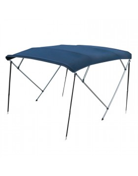 Capotta Capottina Tenda Tendalino Parasole Blu 4 Archi Alluminio 180 200 cm
