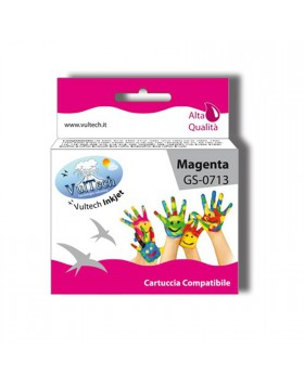 Cartuccia Compatibile Magenta Stampante Epson Stylus SX110 SX210 DX4000 T0713