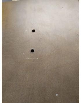(Piccolo difetto) Appendiabiti Piantana Design Attaccapanni da Terra Classico Tinto Noce