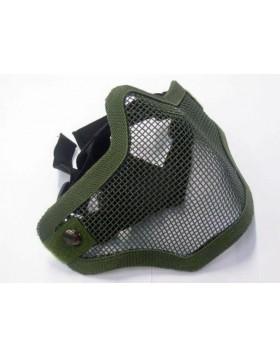 Maschera Protettiva Mezzo Viso Caccia Softair Rete Verde Regolabile Naso Bocca