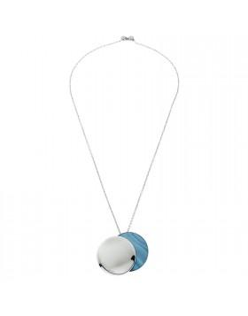 Collana da Donna in Acciaio Madreperla Azzurra Breil Sunset TJ1215