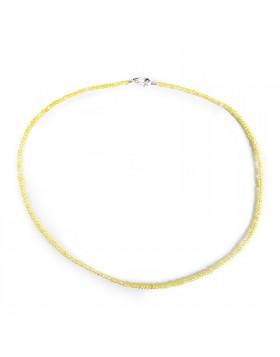 Collana per Donna Girocollo in Argento 925 Pietra Salomite Gialla