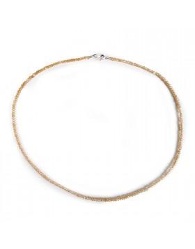Collana per Donna Girocollo in Argento 925 Pietra Salomite Marrone
