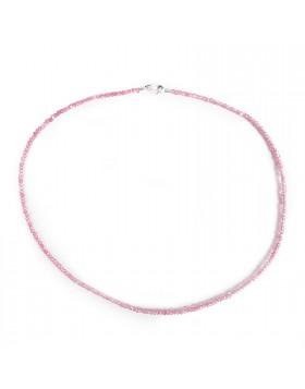Collana per Donna Girocollo in Argento 925 Pietra Salomite Rosa