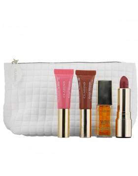 Clarins Cofanetto Donna Lucida labbra 4 Prodotti con Beauty case