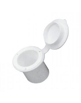 recipiente doccetta in PVC bianco tondo incastro a scomparsa
