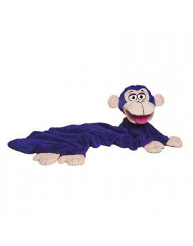 Coperta con Pupazzo per Bambini Plaid Pile Letto Scimmia Invernale 100x70 cm