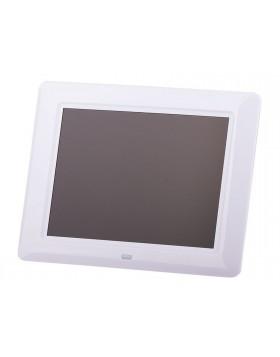Cornice digitale foto video File audio 220x175x24 mm bianca display da 8 pollici