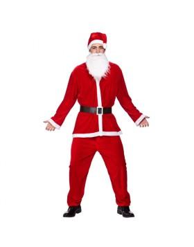 Vestito Costume Babbo Natale Uomo Taglia Unica