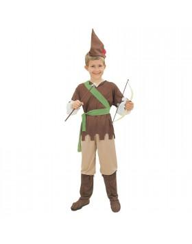 Vestito di Carnevale Robin Hood per Bambino Taglia S 4 6 Anni