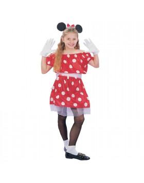 Vestito di Carnevale Minnie Topolina per Bambina Bimba Taglia M 7 10 Anni