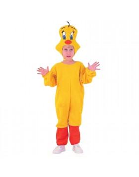 Vestito di Carnevale Titti Pulcino Canarino per Bambina 3 4 Anni 86 cm