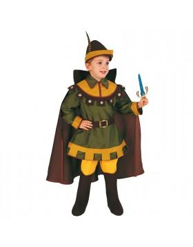 Costume di Carnevale per Bambino Vestito Robin Hood 2 3 Anni 76 Cm