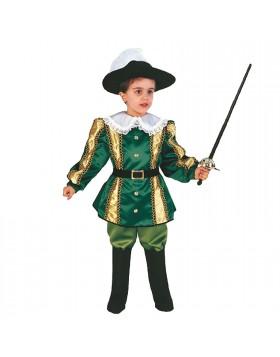 Costume di carnevale per Bambino Vestito Corsaro Principe 2/3 Anni 76 cm