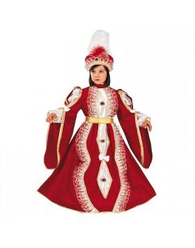 Costume di Carnevale per Bambina Principessa Giulietta 3/4 Anni 86 cm