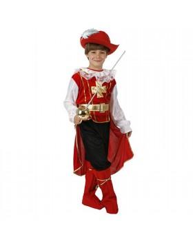 Costume di Carnevale per Bambino Vestito Moschettiere 3/4 Anni 86 Cm