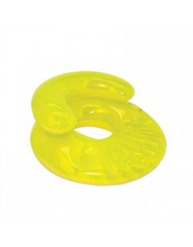Poltrona gonfiabile Galleggiante Vano x bicchiere Giallo Diametro 91 cm Piscina