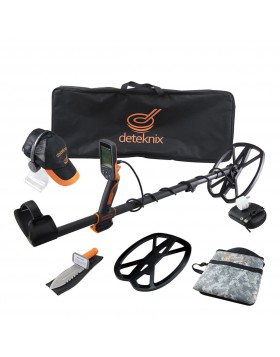 METALDETECTOR CERCAMETALLI DETEKNIX QUEST PRO METAL CON ACCESSORI ORO MONETE NEW