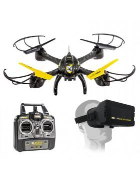 Quadricottero Drone con Telecamera 4 Canali Visore 3D Vr X40.0 Mondo