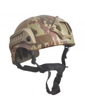 Casco Elmetto Softair Tattico Militare Vegetato Italiano con Velcro Mich