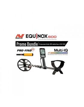 Minelab Equinox 600 Promo Estate Metal Detector Pinpointer Pro-Find 35 Acqua