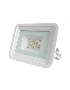 Faro Faretto LED Luce Fredda Slim da Esterno 10W Watt Bianco