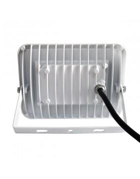 Faro Faretto LED Luce Naturale Slim da Esterno 20W Watt Bianco