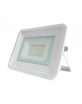 Faro Faretto LED Luce Fredda Slim da Esterno 20W Watt Bianco