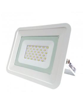 Faro Faretto LED Luce Fredda Slim da Esterno 30W Watt Bianco